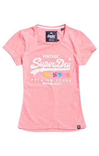 Puff Para Zv0 Pink Goods Entry Camiseta Tee Superdry neon Mujer Premium Snowy Rosa 1BqwZF
