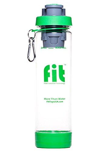 FIT Top Filtering Water Bottle, Green/Clear, 24-Ounce Fits 24 Oz Bottle
