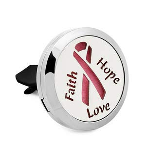- Essential Oil Diffuser Auto Vent Clip. Cancer Awareness Ribbon. Faith Hope Love Auto Car Gift Pink