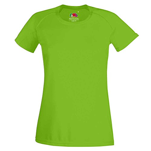 Fruit of the Loom Ladies-Fit Sports Performance Short Sleeve T Shirt Lime