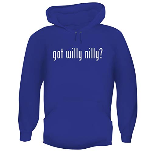 One Legging it Around got Willy Nilly? - Men's Funny Soft Adult Hoodie Pullover, Blue, XX-Large