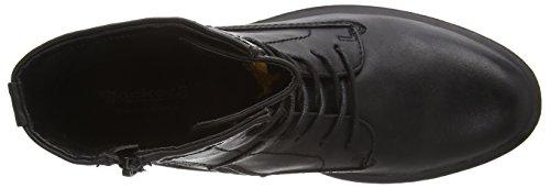 Dockers 37OL204 - botas de combate de material sintético mujer negro - negro