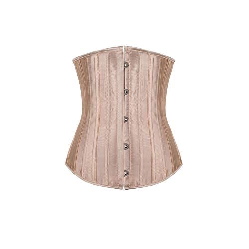 - Yeenvan Women Waist Shapewear Intimates Underwear Waist Cincher Shaper Slimming Appliqued Bodysuit Steel Boned Corset,Nude,Xs