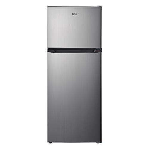 Galanz GLR10TS5F Top Mount Refrigerator, 10 Cu. Ft, Stainless Steel Look