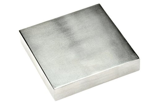 "SE JT34443SB Steel Bench Block, 4"" x ¾"" x 4"" (Block Stainless Steel)"