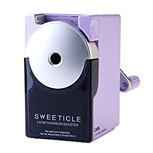 Carl Pencil Sharpener CP-100 Violet. Manual, Portable & Quiet for School, Office & Home Desk.