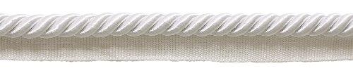 3/8 Twisted Trim Cord Lip (Large WHITE 3/8