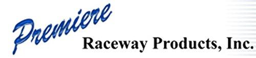 """Quest FEC-72412 Raceway End Cap 1"""" White 2 Pcs."""