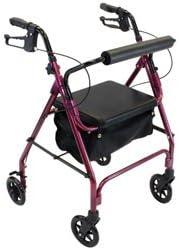 Amazon.com: Invacare suave asiento Rollator de Aluminio con ...
