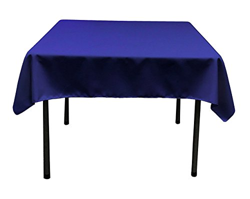 TEKTRUM 70 X 70 INCH 70X70 SQUARE POLYESTER TABLECLOTH - THICK/HEAVY DUTY/DURABLE FABRIC (Blue)