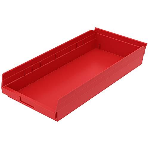 Akro-Mils, 30174RED, Shelf Bin, 23-5/8 In. L, 4 In. H, Red