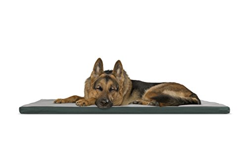 Furhaven Pet Kennel Pad | Reversible Two-Tone Water-Resistan