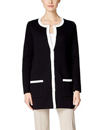 - Charter Club Womens Knit Cardigan Duster Sweater Black PM