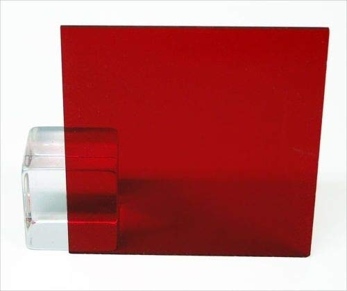 """2 Pack 1/4"""" Dark Red Translucent Acrylic Plexiglass Sheet 8""""x12"""" Cast 6mm Thick Nominal Size AZM 314DKvC6TcL"""