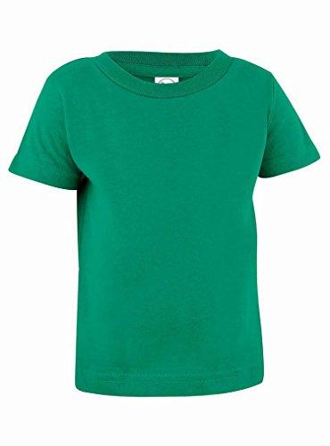 3401 T-shirt (Rabbit Skins 100% Cotton Blank Infant Football Jersey Tee [Size 12 Months ] Kelly Green Short Sleeve T-Shirt)