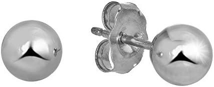 2mm 3mm 4mm 5mm 6mm 7mm 8mm 10mm Gold Friction Backs JewelStop 14k Yellow Gold Ball Stud Earrings 2 mm