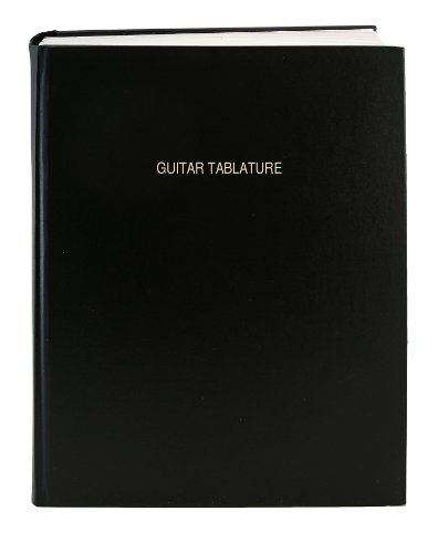 BookFactory® Guitar Tablature Notebook / Guitar Journal - 168 Pages, Imitation Leather (168 Music Book)