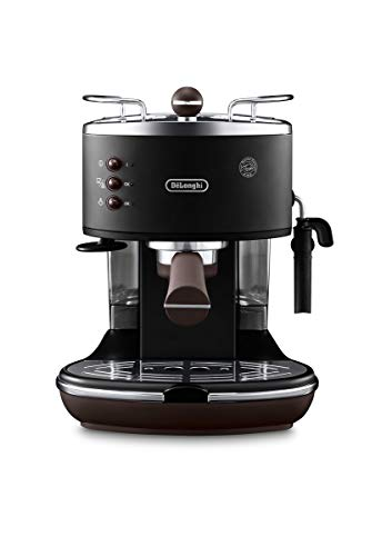 DeLonghi ECOV311.BK Cafetera Espresso Vintage Icona, Independiente, Semi-autom?tica, 1050 W, 1.4 L, 15 bares, color…