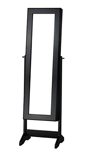 FirsTime & Co. Cheval Free Standing Jewelry Armoire, Black
