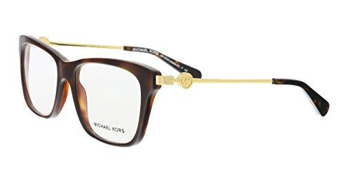 Michael Kors ABELA IV MK8022 Eyeglass Frames 3135-52 - Dk Tortoise/ Black - Michael Eyewear Kors