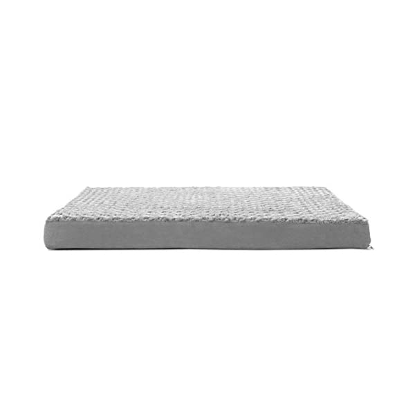 FurHaven Pet Dog Bed | Deluxe Orthopedic Ultra Plush Mattress Pet Bed for Dogs & Cats, Gray, Large 2