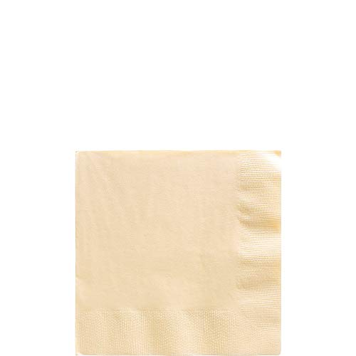Big Party Pack Vanilla Creme Beverage Napkins | Pack of 125 | Party Supply ()