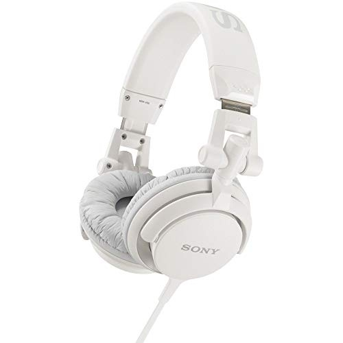 (Sony MDR-V55/WHI DJ style Headphones (Renewed))
