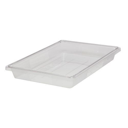 Rubbermaid Commercial Food/Tote Boxes, 5gal, 26w x 18d x 3 1/2h, Clear