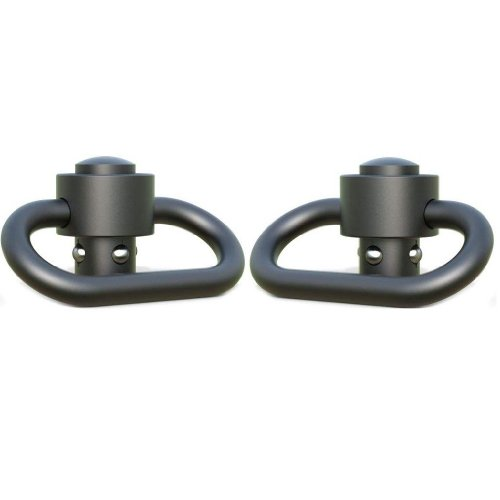 """Ultimate Arms Gear Two 1.50"""" Inch QD Release Slot Loop Push Button Swivels for FNH, FAL, Fiyar Scar, PS90, FS2000"""