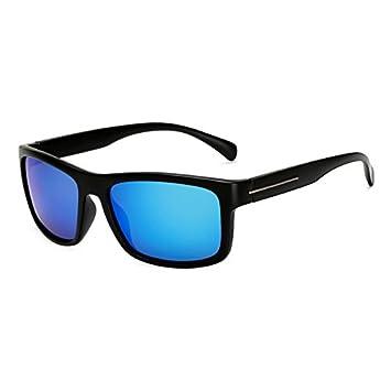 TL-Sunglasses Gafas de Sol polarizadas Polaroid Square Hombres de Negro de Gran tamaño Grandes Gafas de Sol para Hombre Mujer Gafas de Sol,KP1824 C4: ...