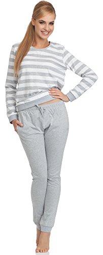 Cornette Pijamas Dos Piezas para Mujer Molly Blanco/Melange