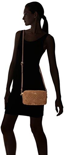 JOOP Velluto Stampa Leandra Shoulderbag Shz - Bolso de hombro Mujer Marrón (Dark Brown)