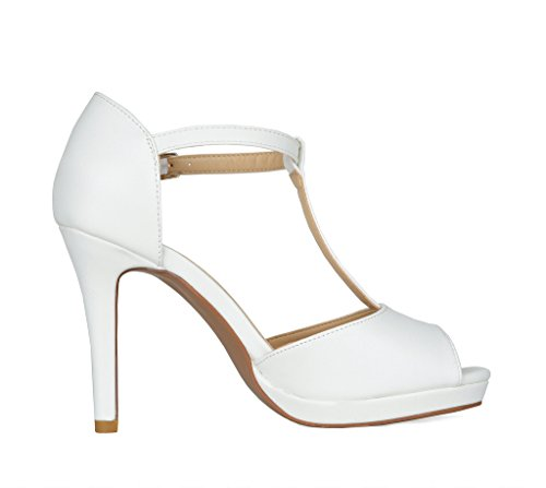 DREAM Pu Dress Pump Heel 15 white Stiletto Women's PAIRS Sandals xanPwxpCr