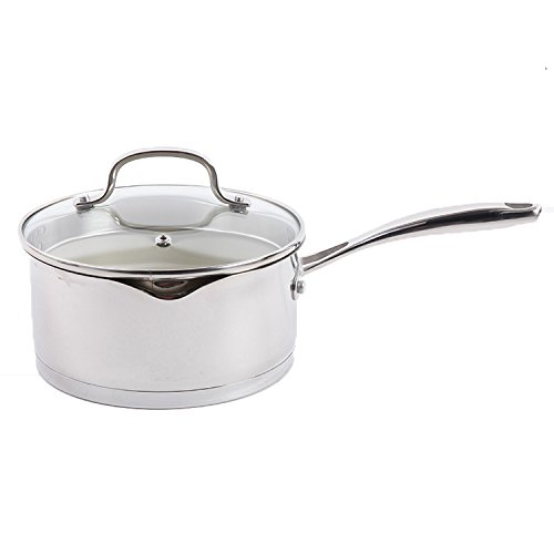 Gibson Home Gleaming Sauce Pan with Lid Ceramic Nonstick Int