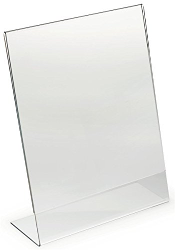 Dazzling Displays 25-Pack Acrylic 8.5 x 11 Slanted Sign Holders