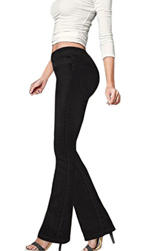 - HyBrid & Company Women's Skinny Bootcut Stretch Pant P15P944 Black 7