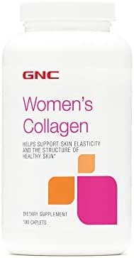 GNC Women's Collagen, 180 Caplets, Support Skin Elasticity and Healthy Skin