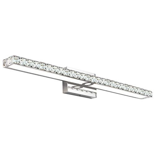 33.5 SOLFART Crystal Wall Lights Long Vanity Lights for Bathroom Vanity Light fixtures