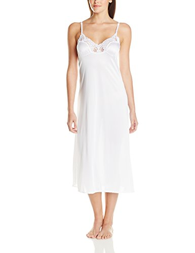 Vassarette Women's Signature Lace Anti-Static Full Slip 10105, White Ice, 36