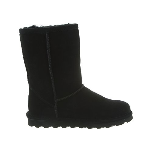 Bearpaw Women's Elle Short Winter Boot, Black, (6)