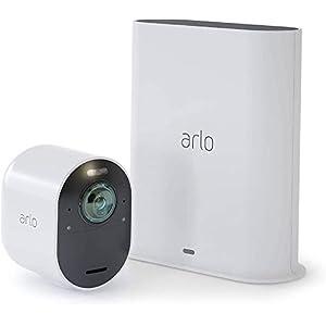 Arlo Ultra 4K HDR | Caméra de Surveillance WiFi sans Fils. Grand Angle 180° Spot intégré, Pack de 2 caméras…