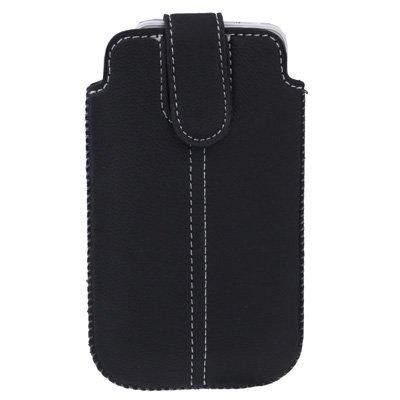 gada - Handyhülle für Apple iPhone 5 5S 5C - Hochwertiges Flip Leder-Imitat Etui schwarz