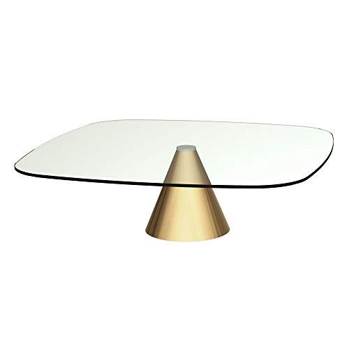 Basse Table Base Space Carrée Avec Gillmore En Clair Grande Verre OkZPuXi