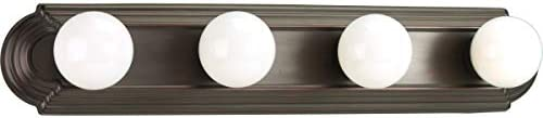 Progress Lighting P3025-20 4-Light Embossed Wall Mount Bracket Sockets are On 6-Inch Centers and Wall Mount Only