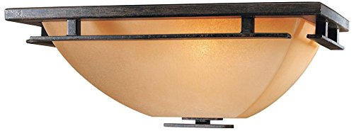 1 Light Wall Sconce in Iron Oxide Finish w/Venetian Scavo Glass