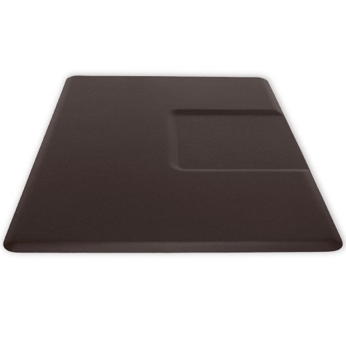 Top-of-the-Line Spa Barber Salon Anti Fatigue Rectangle Floor Mat in Brown w/ Square-Base Chair Impression (SHIPS FREE!) Review