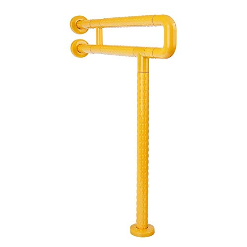 - Achfs Bathroom Handrail Bathroom Handrail U-Shaped Toilet Toilet Slip Safety Handrail Barrier-Free Elderly Disabled Person Sitting Up Railing Railing 60 73CM Safety Products (Color : Yellow)