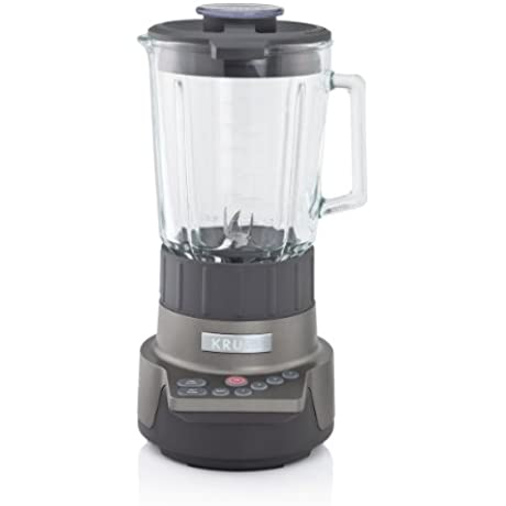 KRUPS KB790 Motor Technik Blender With 6 Powerful Stainless Steel Blades And 7 Programs Silver