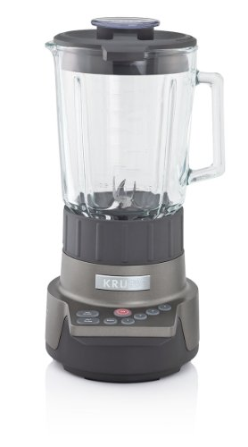 KRUPS KB790 Motor Technik Blender with 6 Powerful Stainless Steel Blades and 7 Programs, Silver