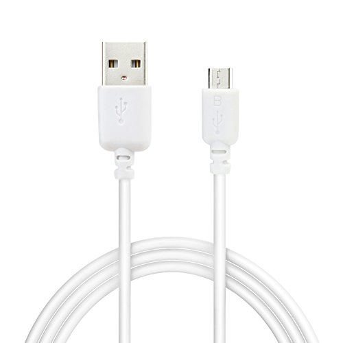 Price comparison product image Micro-USB Cable, EZOPower 6 Feet White Micro-USB Sync & Charging Data Cable For Samsung Galaxy TAB 3 7inch / 8inch /10.1inch / Galaxy Note 8.0 Tablet and more